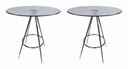 LIQUIDATION! Round Dining Table Clear Tempered Glass (SET OF TWO)