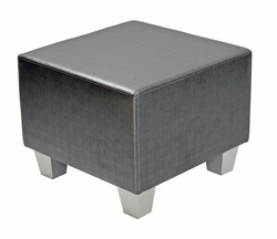 Liquidation! Zenus Hybrid Ascend Midnight Square Ottoman - Handcrafted NJ