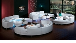 Luxurious White Four Sets Of Sectional Sofa, Ottoman and Bar-Ottoman