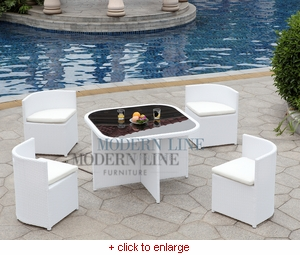 Modern White Outdoor Furniture modern line furniture - commercial furniture - custom made