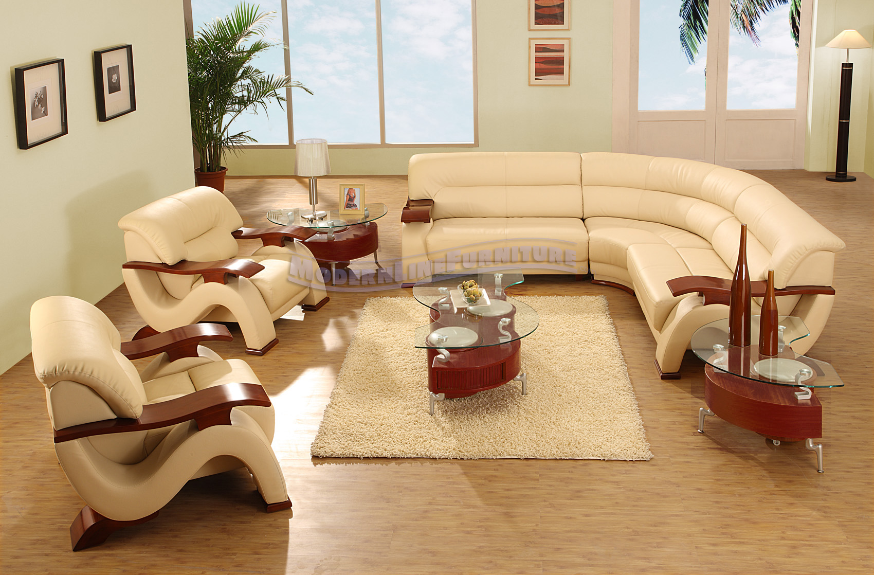 Modern line furniture commercial furniture custom made modern line furniture commercial furniture custom made furniture modern beige leather sectional sofa with two chairs coffee table and two end tables geotapseo Gallery