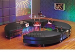 Modern Black C-Shape Arrangement: 4 Tails, 3 Multi-function Tables and a Bar Table