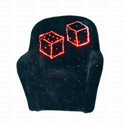 Modern LED Dice Fabric Chair