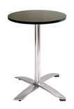 Modern Folding Bar Round-Top Table (BLACK FORMICA)