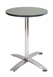 Modern Folding Bar Round-Top Table (SILVER FORMICA)