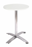 Modern Folding Bar Round-Top Table (WHITE FORMICA)