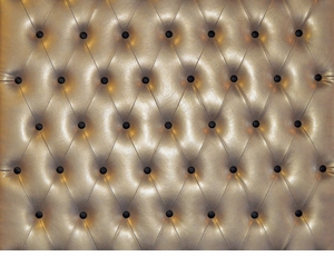 Modern Gold Leather Button Tufted Wall Panel (Price Per Sq Foot)