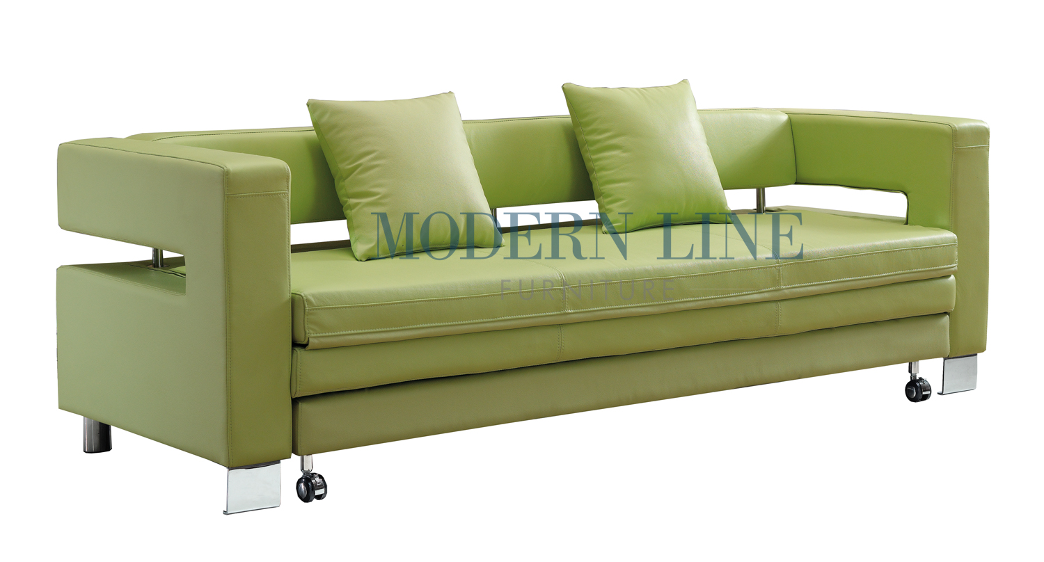 ... Made Furniture | Clearance | VISIT OUR COMMERCIAL PRODUCT SHOWROOM TO  SAVE UP TO 75% ON ALL FLOOR MODELS | LH3 | Modern Green Leather Sofa Bed  Sleeper