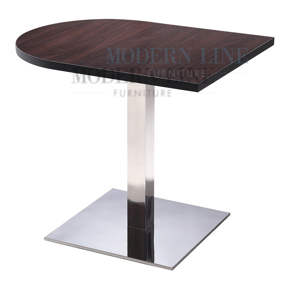 Modern Line Furniture   Commercial Furniture   Custom Made Furniture |  Modern Half Moon Restaurant Table With Scratch Resistant Top