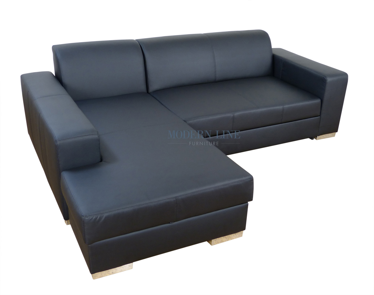 Modern Line Furniture - Commercial Furniture - Custom Made Furniture | Modern Leather or Fabric Sectional Sofa Sleeper With Storage  sc 1 st  Modern Line Furniture : sectional sofa with storage and sleeper - Sectionals, Sofas & Couches