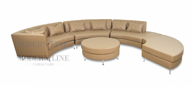 Modern Line Furniture   Commercial Furniture   Custom Made Furniture |  Modern Luxurious Design Deko Taupe Tufted Leatherette Sectional Sofa With  Pillows And ...