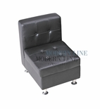 Modular Component - Armless Chair - Tufted Back - Flat Seat