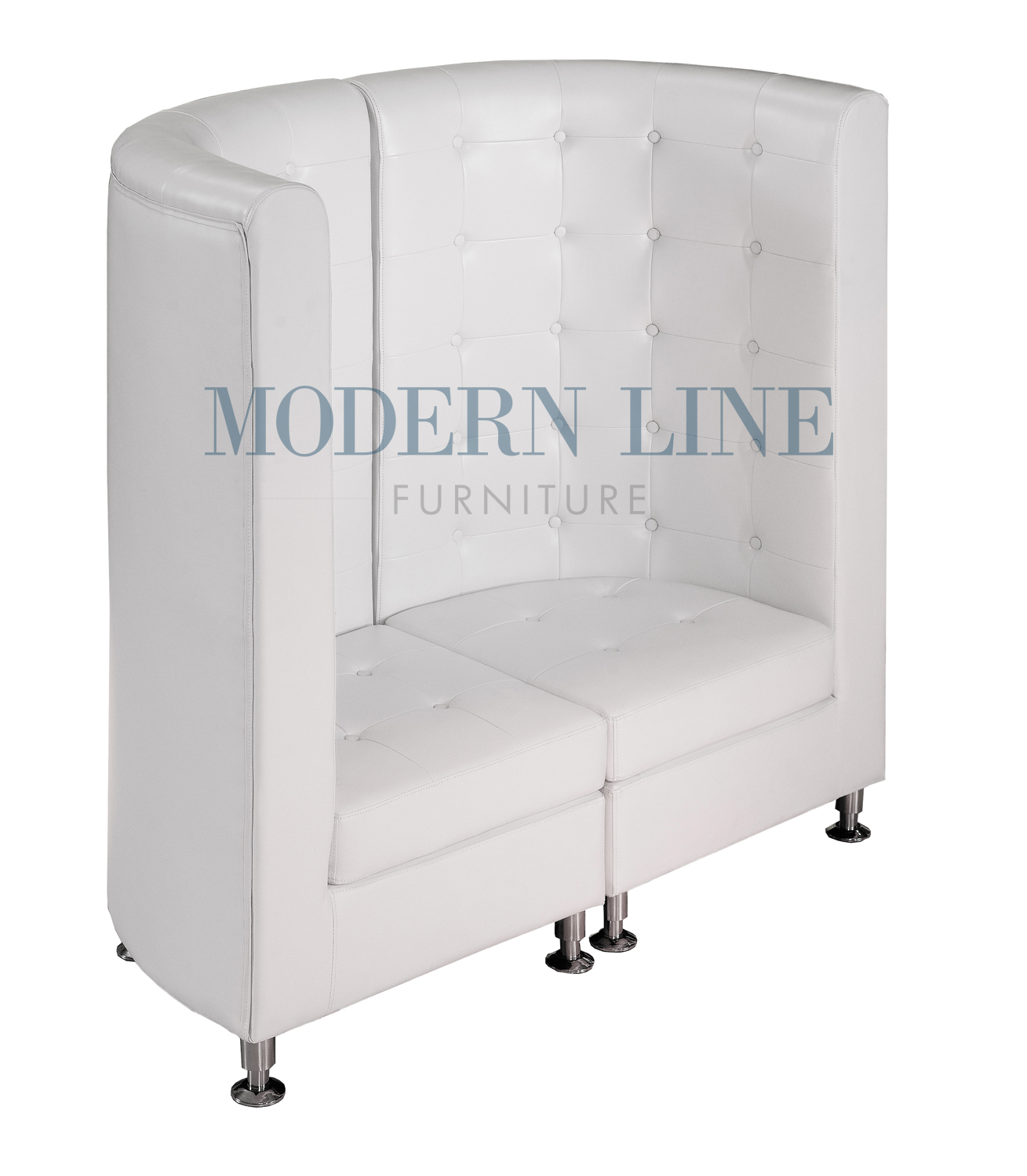 modern line furniture commercial furniture custom made furniture seating collection modern modular furniture white leather curved loveseat - Curved Loveseat