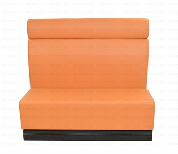 Modern Modular Orange Leather Booth/Extension
