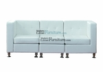 Modern Modular White Leather Sofa