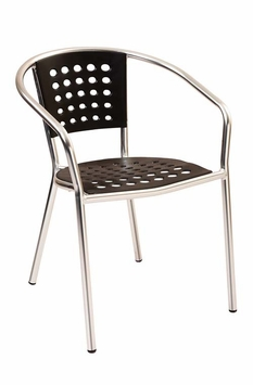 Modern Outdoor Stacking Black Chair