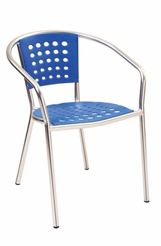 Modern Outdoor Stacking Blue Chair