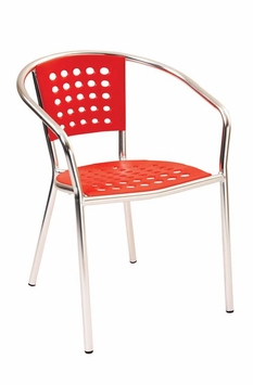 Modern Outdoor Stacking Red Chair