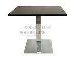 Modern Scratch-Resistant  Dining Table (BLACK FORMICA)