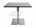 Modern Scratch-Resistant  Dining Table (SILVER FORMICA)