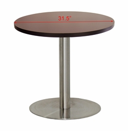 Round 31.5in Scratch-Resistant Restaurant Table (WALNUT MELAMINE)