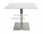 Modern Scratch-Resistant  Dining Table (WHITE FORMICA)