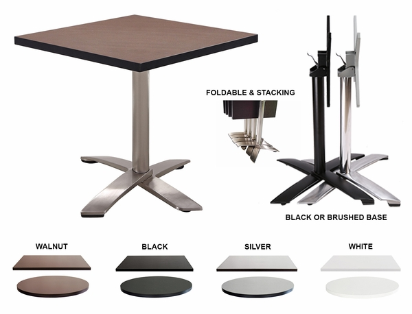 Scratch-Resistant Laminate Top -Folding & Stackable- Restaurant Table