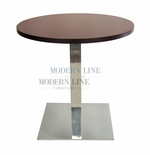 Modern Scratch-Resistant Round Dining Table (WALNUT)
