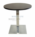 Modern Scratch-Resistant Round Dining Table (BLACK FORMICA)