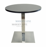 Modern Scratch-Resistant Round Dining Table (SILVER FORMICA)