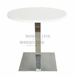 Modern Scratch-Resistant Round Dining Table (WHITE FORMICA)