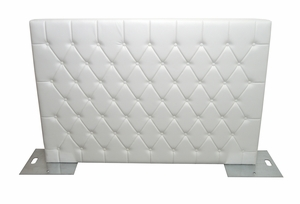 Modern White Diamond Tuft Wall Partition