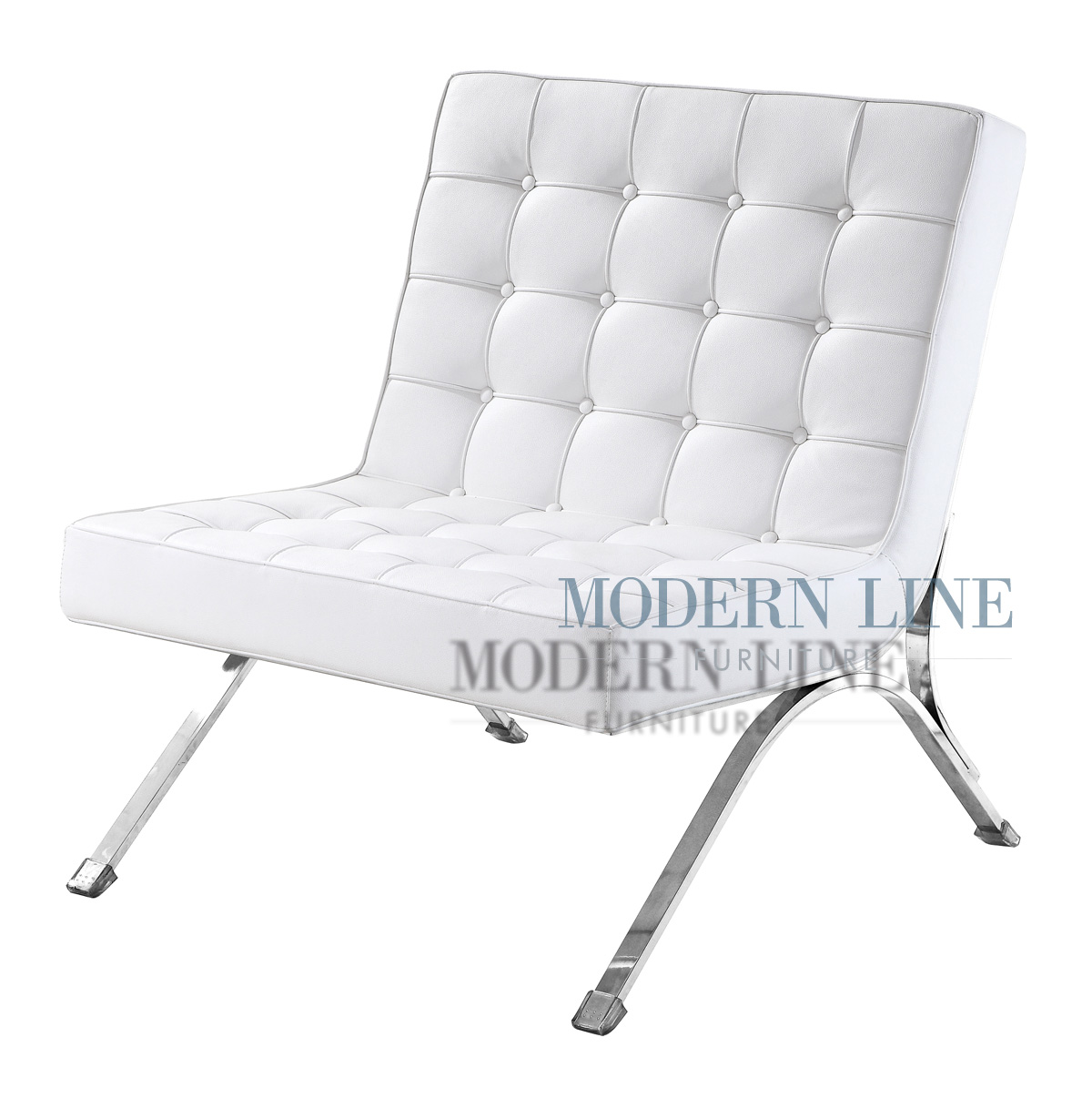 Beautiful Modern Line Furniture   Commercial Furniture   Custom Made Furniture |  Seating Collection | | Chair   Model Marcel | Modern White Leather   Button  Tufted   ...