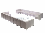 Modular Two Long Sectionals - Tufted Back - Flat Seat