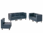 Modular Component - Sofa, Love Seat and Chair - Tufted Back - Flat Seat