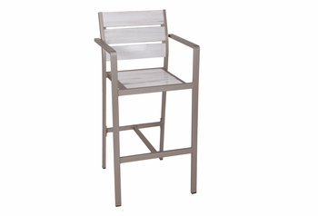 Modern Outdoor Antique White Bar Stool