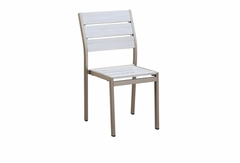 Outdoor Stacking Antique White Chair