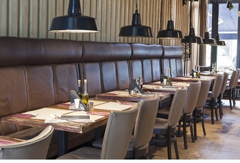 Banquette, Optional Tables and Chairs (Made in USA)- Restaurant Complete Interior Solution - 6