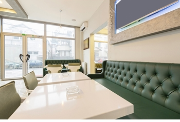 Banquette, Optional Tables and Chairs (Made in USA) - Restaurant Complete Interior Solution - 9