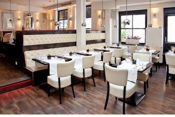 Banquette, Optional Tables and Chairs (Made in USA) - Restaurant Complete Interior Solution - 1