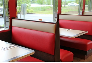 Booth Seating with Optional Tables (Made in USA) - Restaurant Complete Interior Solution - 11