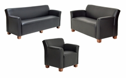 SAVE OVER $1300! Build For Public Spaces - Largo Sofa, Love Seat and Chair - Made in USA
