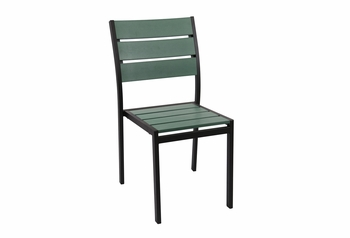 Stackable Outdoor Green Teak Restaurant Chair