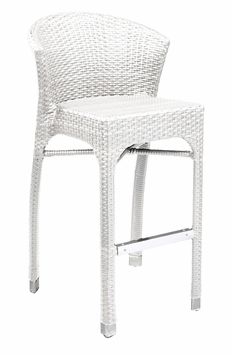 Stacking Commercial-Grade Outdoor Bar Stool (Bone)
