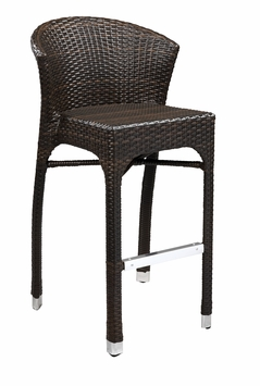 Stacking Commercial-Grade Outdoor Bar Stool (Espresso)