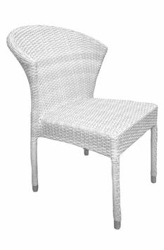 Stacking Commercial Grade Outdoor Restaurant Chair (Bone)