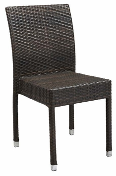 Stacking Commercial Grade Outdoor Restaurant Chair (Espresso)