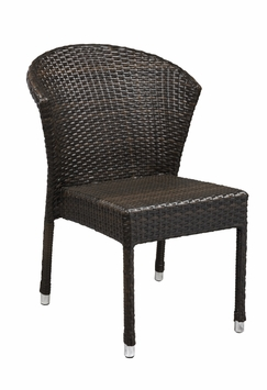 Stacking Commercial-Grade Outdoor Restaurant Chair (Espresso)