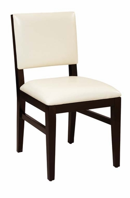 Commercial Grade Restaurant Chair   Dark Walnut Frame (Customize Seating)