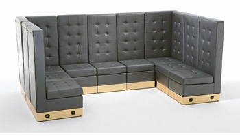 Tufted Black with Custom Kick Panel - Arrangement G2